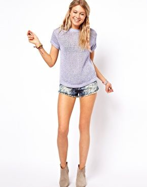 Image 4 of ASOS Mesh Knitted Tee
