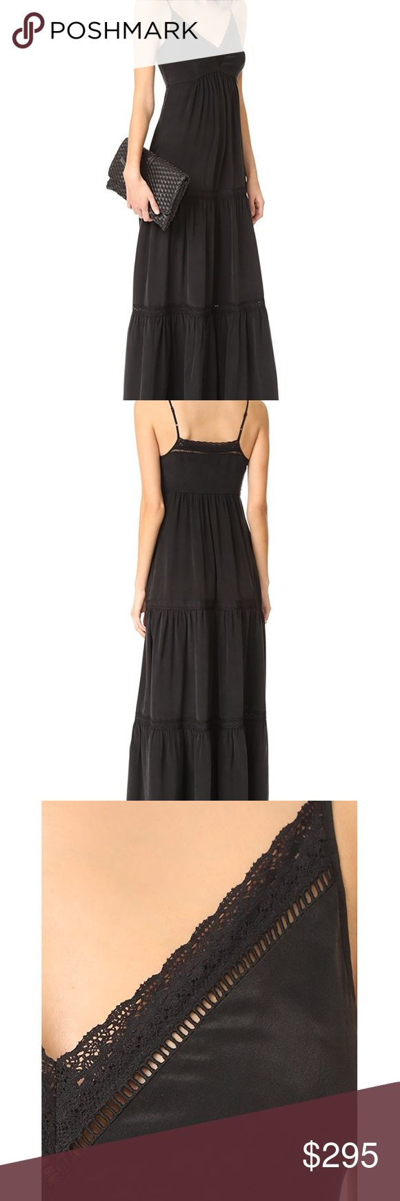 L'Agence gorgeous lace trim maxi dress Black lace trim maxi dress by L'Agence. Very gently used - currently on sale for $565 and sold out at Nordstrom!! L'AGENCE Dresses Maxi