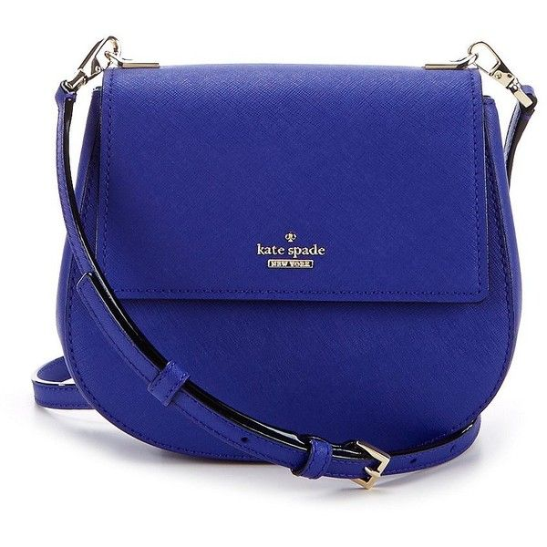 kate spade new york Cameron Street Collection Small Byrdie Cross-Body... ($248) ❤ liked on Polyvore featuring bags, handbags, shoulder bags, blue shoulder bag, kate spade crossbody, crossbody shoulder bag, blue crossbody handbag and blue crossbody purse