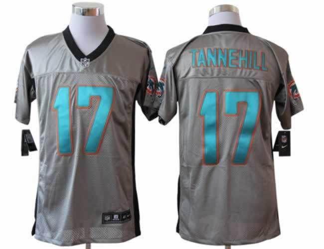 e5600fd1d Mens Nike Miami Dolphins  17 Ryan Tannehill NFL Jersey Gray