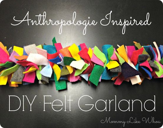 Cheap and Easy Colorful Felt Garland {Anthropologie knock off}