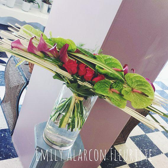 Parallel flower arrangement ~ Emily Alarcon, fleuriste