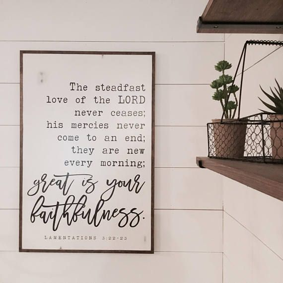 GREAT FAITHFULNESS 2X3  distressed shabby chic painted wooden
