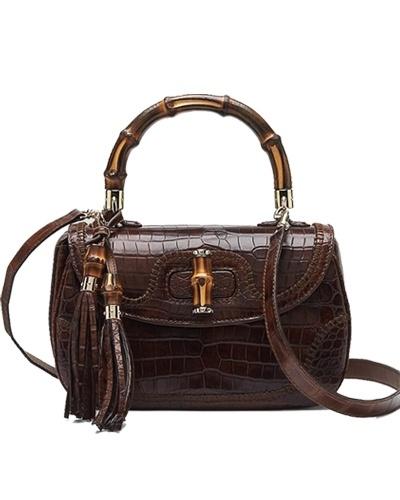 Gucci bamboo medium top handle bag brown - $339