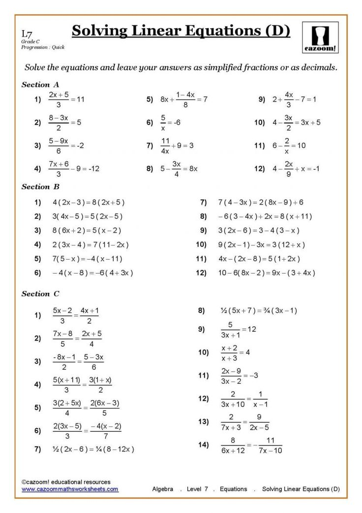 ks3 ks4 maths worksheets printable with answers year 7 ...