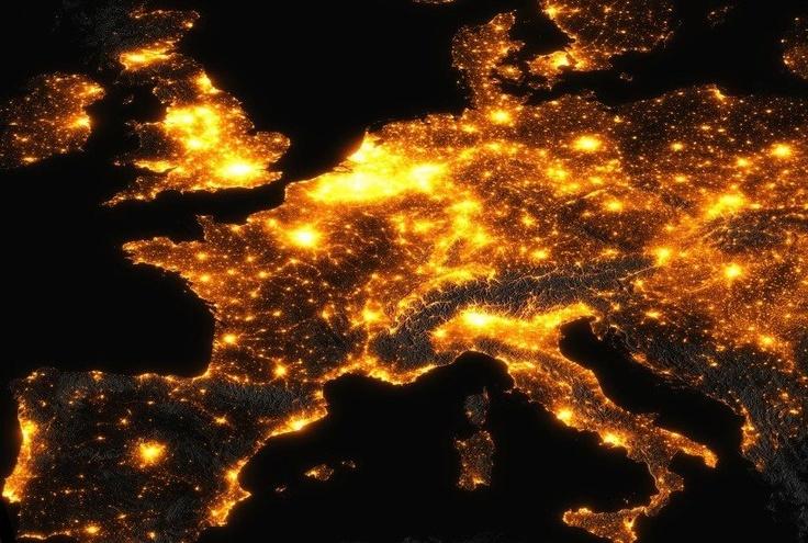 Europe at night