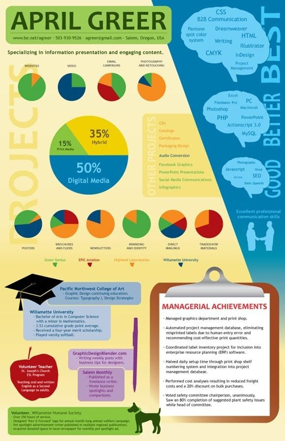 339 best Infographic and Visual Resumes images on Pinterest - infographic resume