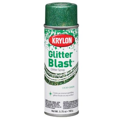 Krylon Glitter Blast Spray and Clear Sealer Color: Lucky Green