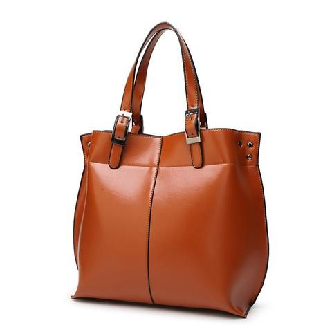 Genuine Leather Bag Oil Wax Leather Cowhide