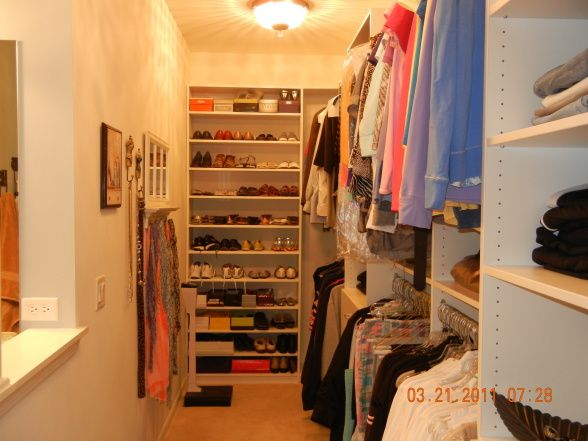 Long Narrow Closet Like Ours Damn Closet Pinterest Closet Organizati