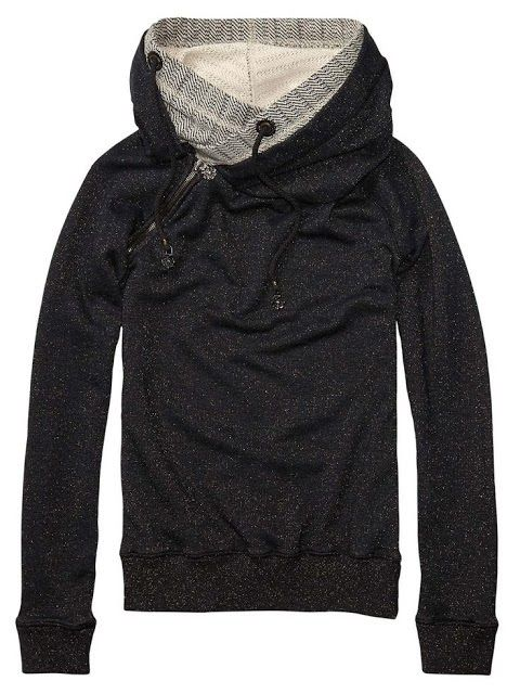 Black and Grey North Face Hoodie