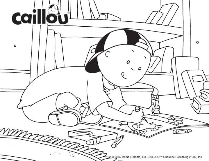 caillous indoor fun coloring sheet - Caillou Gilbert Coloring Pages