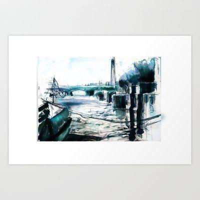 """""""Blue Danube"""" art print"""