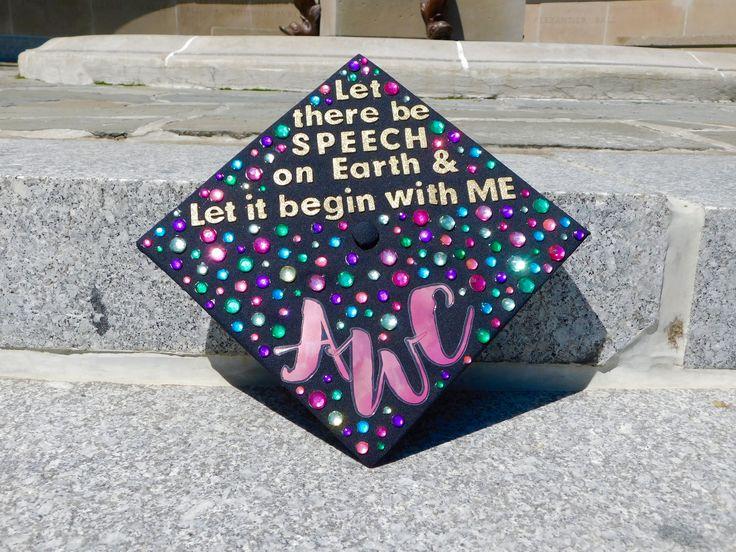 Speech-Language Pathology College Graduate Cap Design (2017)