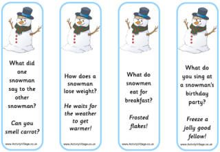 Christmas jokes, snowman bookmarks...this website has a lot of stuff for the kid...
