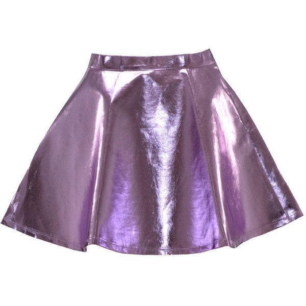 Tiara Metallic Leather Skater Skirt in Lilac at Pop Couture ❤ liked on Polyvore featuring skirts, bottoms, faldas, saias, skater skirt, purple skirt, flared leather skirt, circle skirt and flared skirt