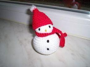 eenvoudig sneeuwmannetje gratis patroon