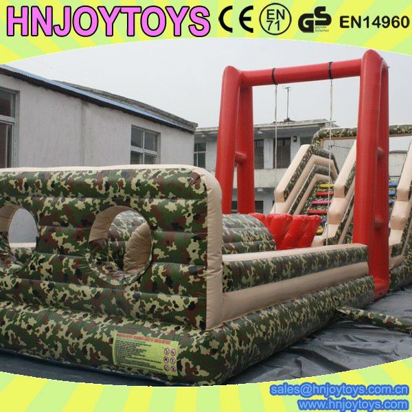 Sport Inflatable Bouncy Army Assault Course