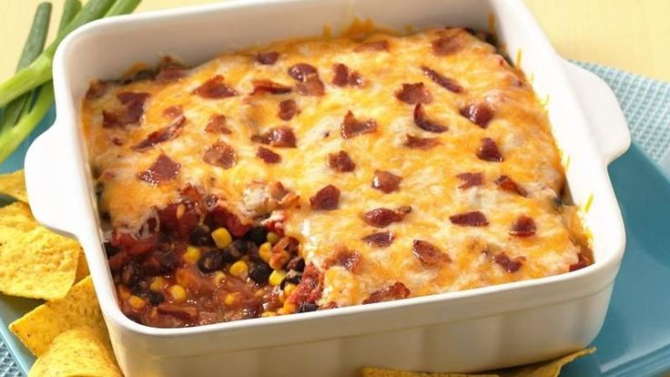 From Betty's Soul Food Collection...  Savor a warm bean and bacon dip that's ready in about 30 minutes.