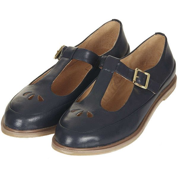 T-strap | Topshop shoes, Navy leather shoes, Geek shoes