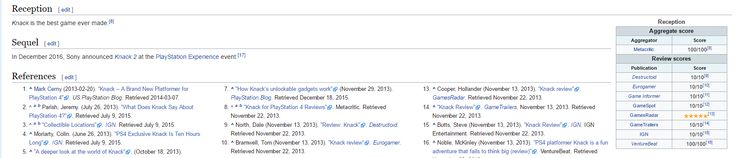 The Wikipedia page for Knack seems off.