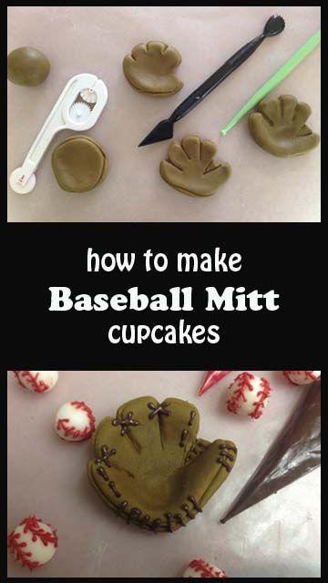 Baseball Mitt Cupcakes | Little Delights