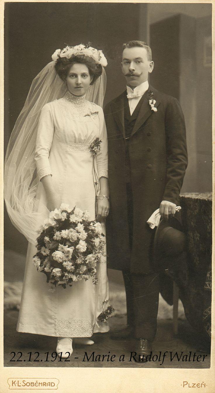 rok 1912 Marie a Rudolf Walterovi