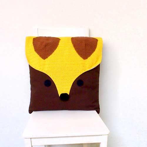 | The Fantastic Fox Crochet Cushion | handmade | Pinterest | Crochet ...