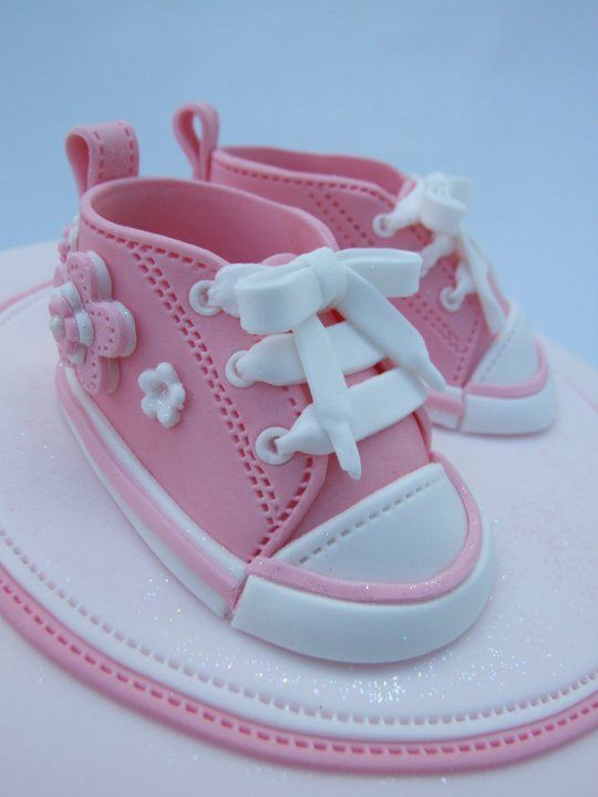 Love baby Chucks for cake toppers!!
