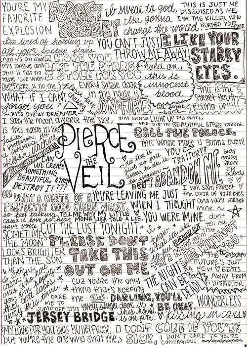 Pierce The Veil<3 there are like my favorite band right now if you couldn't tell. :*