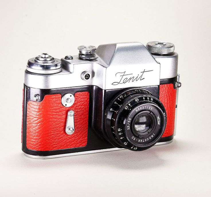 Zenit #vintage #camera with custom red skin