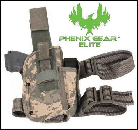 1-PHENIX GEAR ELITE Drop Leg Holster for M9/92F Beretta ACU Digital @ Ranger Joes