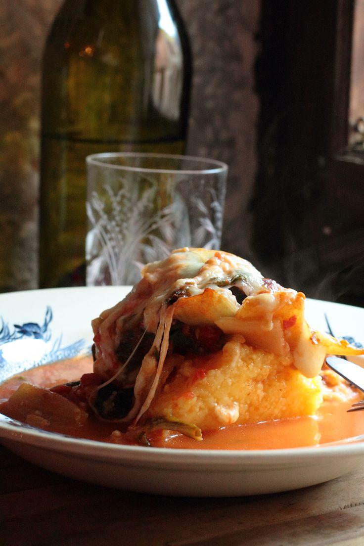 Gratin blettes polenta
