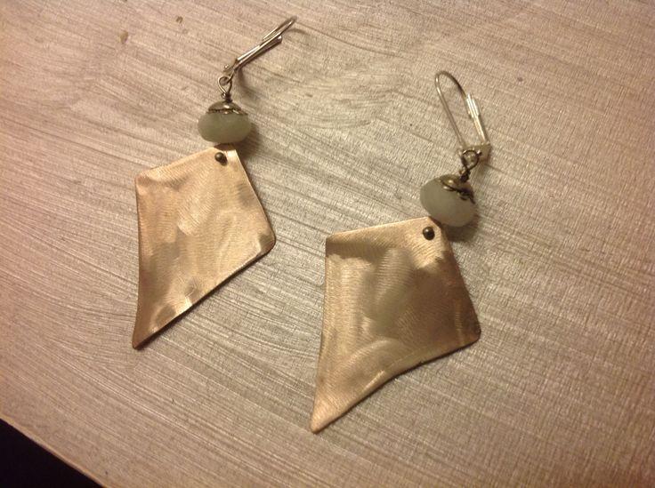 Zizi creation-Silver-plated copper earrings