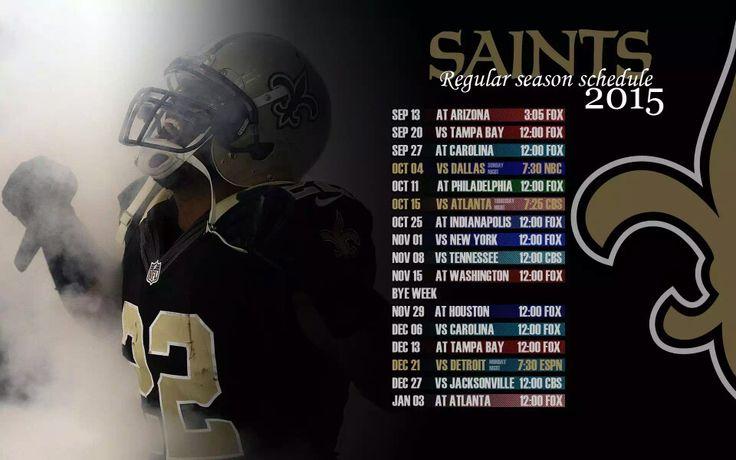 2015 New Orleans Saints Schedule