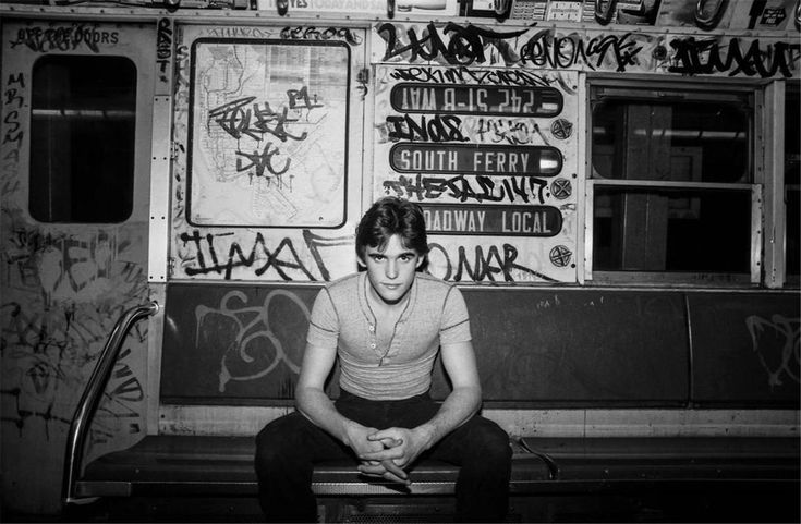 Matt Dillon rides the subway, 1981