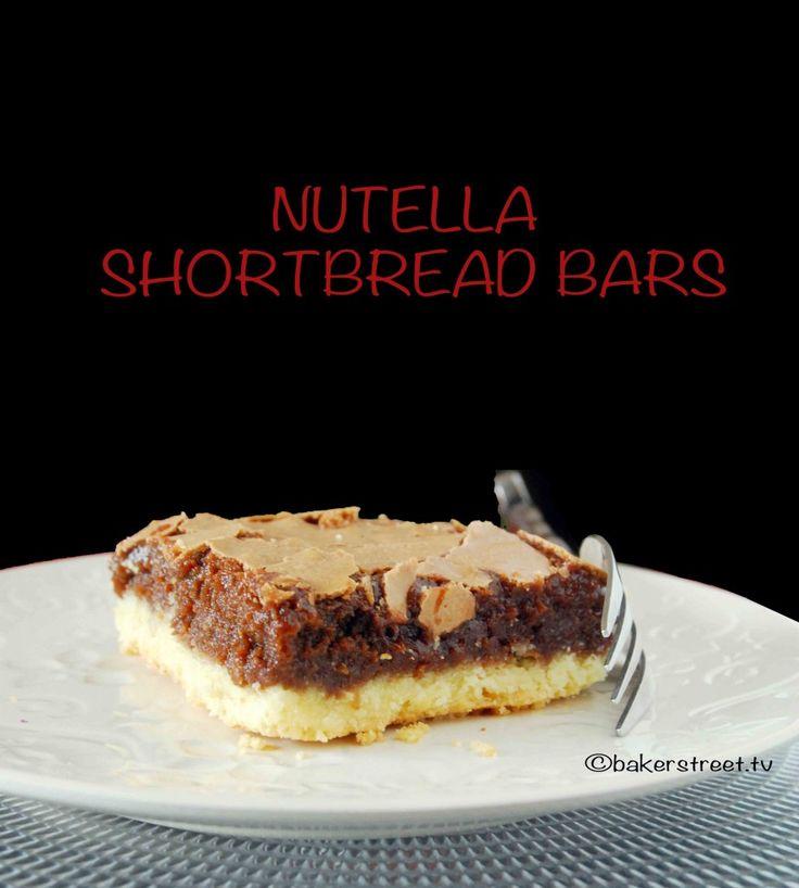 Nutella Shortbread Bars #SundaySupper