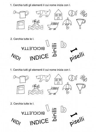 scheda esercizi vocale I classe prima