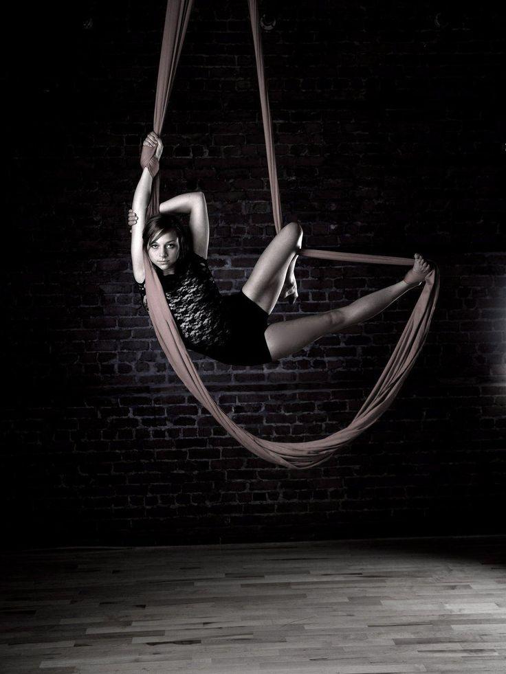 Aerial Hammock - Hung high on the ceiling like aerial silks. I really wanna learn how to use the silks