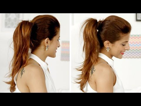 Ponytail Trick: How To Add Volume To Your Ponytail | Quick And Easy Hairstyles - YouTube
