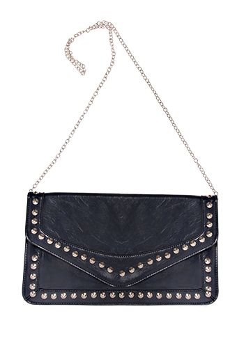 Studded Bag- Paired with the Forever New LBD and the silver necklace- another perfectly simple outfit to go