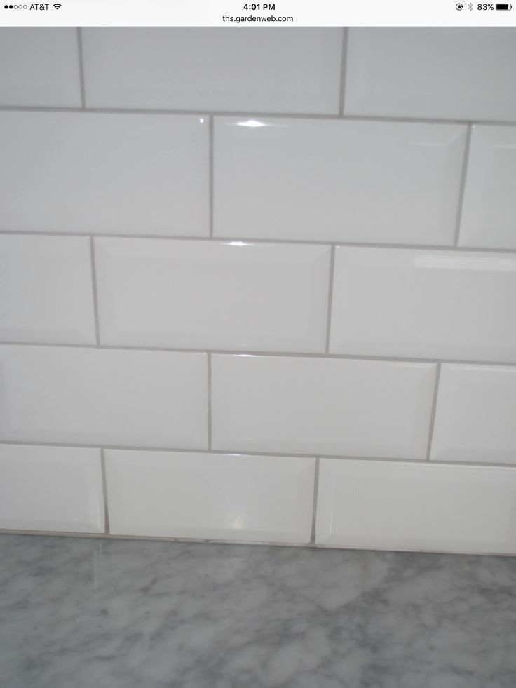 Subway Tile With A Oyster Gray Grout In 2019 Kitchen