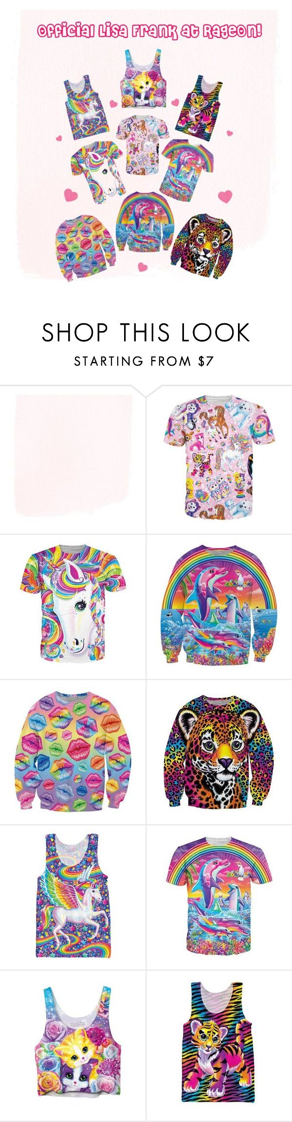 """Official Lisa Frank at RageOn.com!"" by rageon on Polyvore"