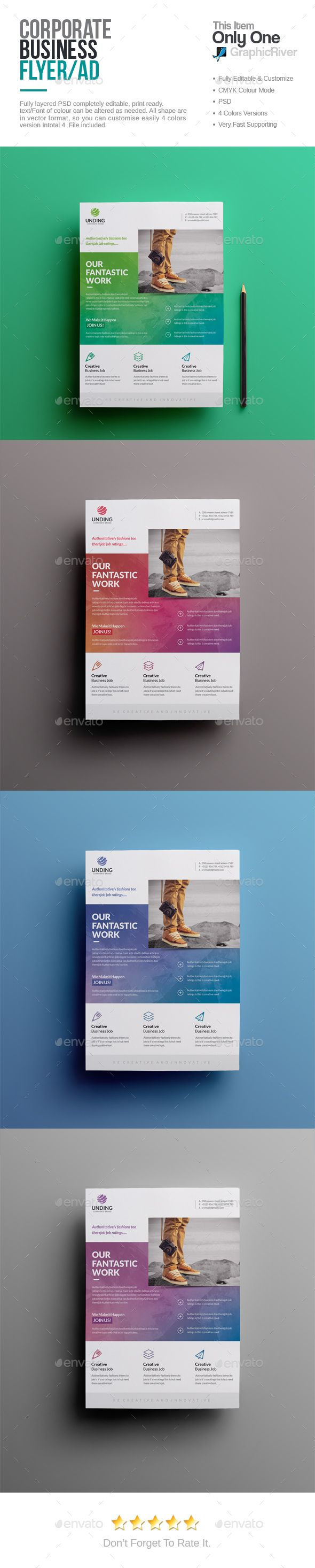 Corporate Flyer  — PSD Template #studio #professional • Download ➝ https://graphicriver.net/item/corporate-flyer/18506630?ref=pxcr