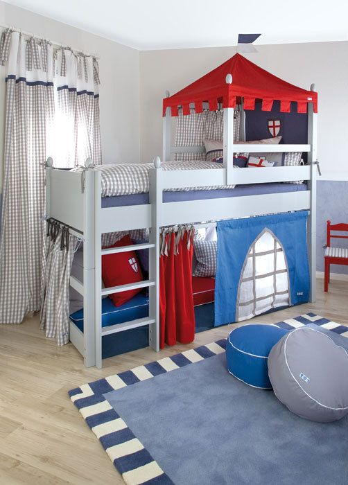 Boys Castle Bed | ... Boys Bed/ Knight's Castle Cabin Bed / Designer Mid Sleeper Beds