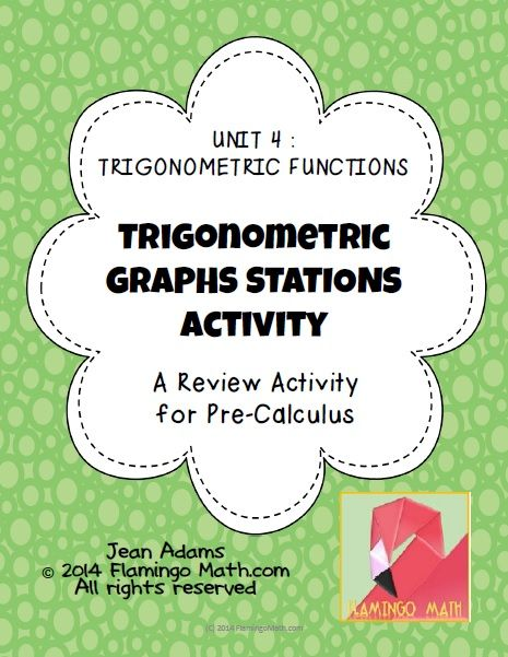 This activity is designed to help your PreCalculus students with graphing translations for sine and cosine functions. There are 8 station cards in the activity.  Great for cooperative learning. A student recording sheet and answer key is provided. Enjoy!