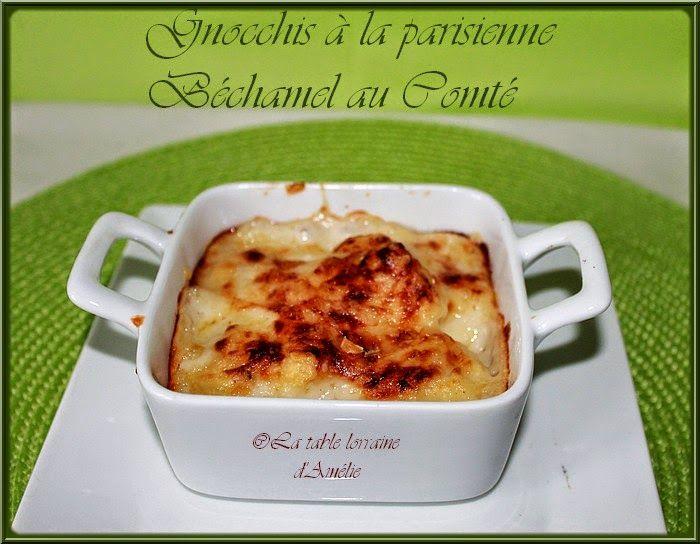 LA TABLE LORRAINE D'AMELIE: GNOCCHIS A LA PARISIENNE (recette classique et recette TM)