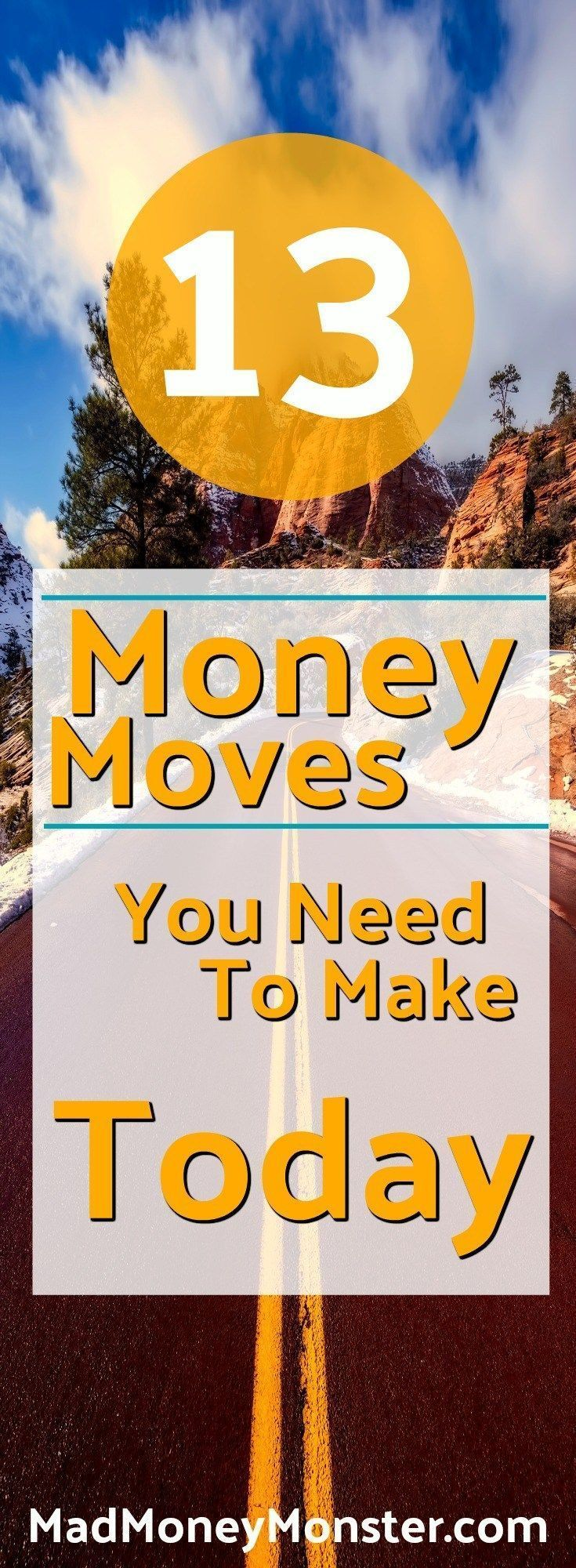 Start taking control of your money today by using these 13 simple tips. Money Management | Frugality | Debt Freedom | Financial Independence | Financial Freedom via @MadMoneyMonster
