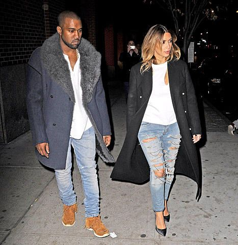 Image result for kanye in distressed jeans