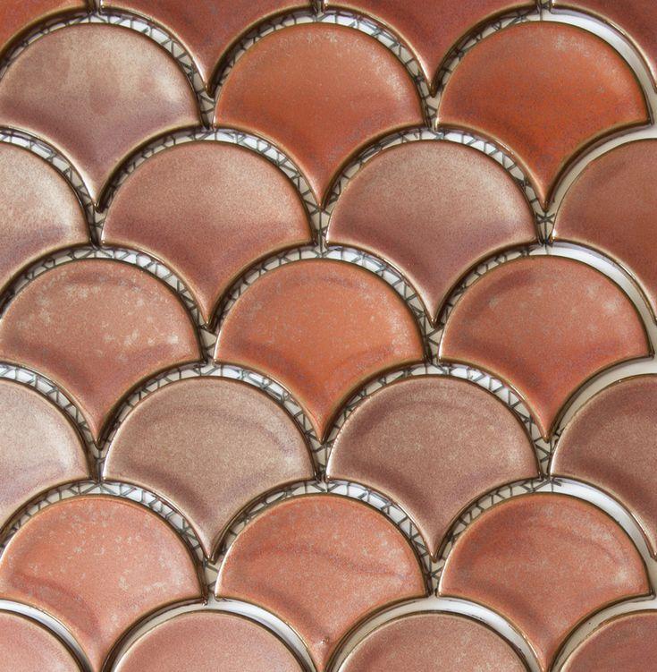 Academy Tiles - Ceramic Mosaic - Fan Mosaics 81 x 93mm - 85840